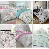 DREAMSCENE KING DUVET COVER SETS ADULT BEDDING SETS PUGS FLORAL CHECK REINDEER