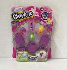 SHOPKINS Season 2 Toy Figure Set 5 Pack 'Once You Shop... You Can't Stop' NEW!