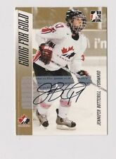 2006 ITG Going for the Gold Jennifer Botterill Team Canada Autographed Card