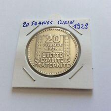 pièce en argent 20 F Turin 1929
