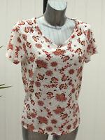 M&S Per Una Sizes 8 12 16 22 24 Floral V Neck Short Sleeve Top Bnwt