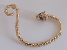 Gold Tone 6.0cm Twisted Pattern Crystal Snake Bling Cuff Wrap Retro Punk Earring