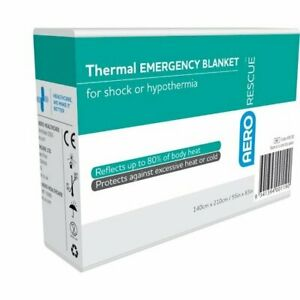 2x Thermal / Space Emergency Blanket for shock or hypothermia