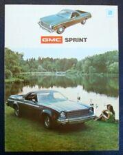 GMC SPRINT Pick Up USA Sales Brochure 1973