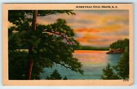 Linen Postcard Scenic Greetings From Ideal Beach Middletown New Jersey NJ