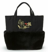 SANRIO HELLO KITTY Fur Tote Bag M Size Black Kawaii Japan