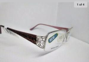 Sophia Loren Eyeglass Frames Silver Scroll M258 Rxable Prescription  NWT