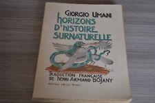 LIVRE UMANI Giorgio -  Horizons d'Histoire Surnaturelle / Dédicace Bojany