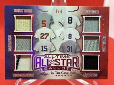 2020 Leaf All Time All Star Ballot Relic Berra Fisk Bench etc 2/4 #ATAS-05