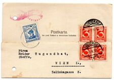 Austria 1932 card to Wien with added Cinderella Charity stamp
