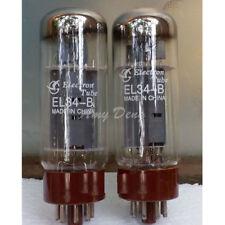 2PCS  8-Pin HIFI  EL34B EL34 Audio Amplifier Vacuum Electron Tube Tested Well