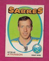 1971-72 OPC # 162 SABRES STEVE ATKINSON ROOKIE NRMT CARD  (INV#5278 )