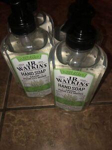 JR Watkins Gel Hand Soap, Aloe & Green Tea, 4 Pack, Scented Liquid Hand Wash