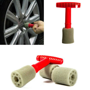 1Set SUV Car Lug Nut Wheel Cleaning Detailing Brush Loofah Type Sponge Tool Kit