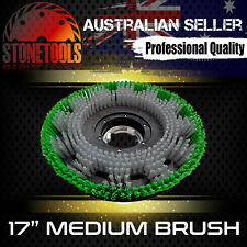 "17"" Medium Brush for Floor Polisher Buffer Scrubber Cleaner"