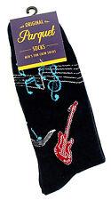 Guitar Blues Men's Crew Socks Musician Novelty Casual Fashion Music Blue Sock