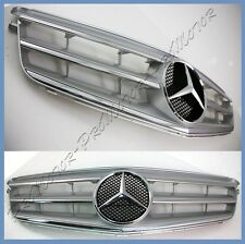 2008-2011 M-BENZ Silver 3 Fins Chrome Front Grille For W204 C250 C300 C350 Sedan