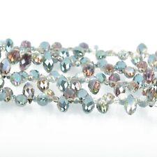 12mm Crystal NORTHERN LIGHTS AB Teardrop Briolette top drilled 50 beads bgl1696