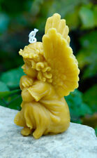 Cherub Candle ~ Pure Beeswax Cherub Candle ~ Beeswax Angel Candle ~Raphael Style