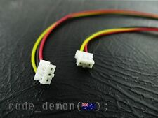 New JST 2.00mm Connector Female 3 Pin 200mm Cable (x2) - Arduino Quadcopter RC
