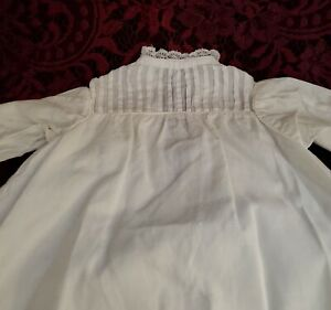 Antique/Vintage White Doll Gown Pretty