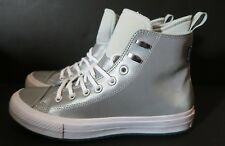 f5d2a5f6ad94 Converse Chuck Taylor Waterproof Boot Reflective Silver Women Sz 10 558830