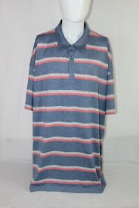 CALLAWAY Men's 3XL Opti-Dri Blue Striped Polo Golf Shirt