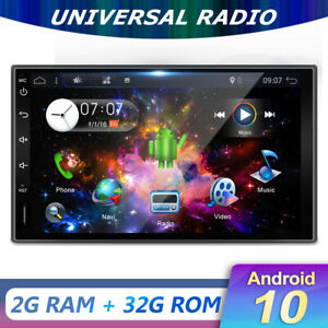 "7"" IPS 2 DIN Autoradio Android 10.0 GPS MP5 AM/FM Radio Stereo WiFi USB BT-5.0"
