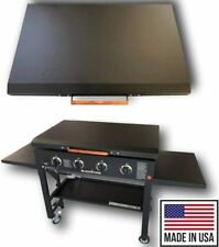 "Black Aluminum Lid Storage Cover for 36"" Blackstone Griddle - Made in USA"