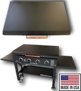"""Black Aluminum Lid Storage Cover for 36"""" Blackstone Griddle - Made in USA"""