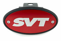 SVT RED Receiver Hitch Cover - Clear Engraving- Lightning Raptor SVT Ford F-150