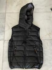 Burberry Men Black Puffer Vest Down Filled Size M Black-Navy