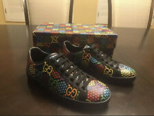 New Gucci Psychedelic Ace Star Men GG Sneakers 499$ Size 10G 11US