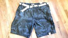 "Foundry mens dark olive camo cargo cotton shorts 11"" inseam W46"