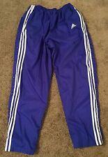 Adidas L blue Snap full Breakaway Basketball Windbreaker Track pants