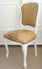Stuhl Stühle Chippendale  Shabby Vintage Stil, weiss neu gepolstert Kaffeesack