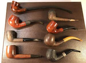 Mixed Job Lot 8 Vintage Briar Estate Pipes - Lectura Churchwarden Barling Grabow