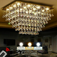 Modern Fashion Crystal chandeliers remote 3 color LED Dimming Ceiling light #115