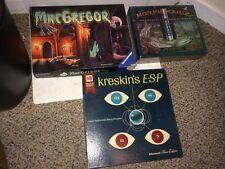 4 Vintage Halloween Games,Ouija,MacGregor Ghost,Kreskin ESP,Sealed Morph Magic