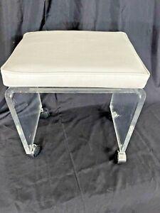 Vintage lucite vanity stool MCM