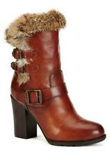 New in Box-$498.00 FRYE Penny Redwood Rabbit Fur/Leather Boots Women's Size 6.5