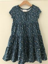 Girls Hanna Andersson Twirl Power DRESS Bubble Dots Sz 100 4 Tiered 100% Cotton