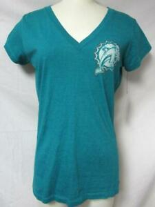 Touch by Alyssa Milano Miami Dolphins Women's Size M V-Neck T-Shirt A1 3513