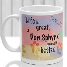 Don Sphynx cat mug, Don Sphynx cat gift, ideal present for cat lover
