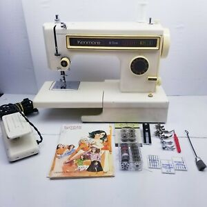 Vintage Kenmore 6 Stitch Model 158 13400 Sewing Machine w/Pedal and accessories