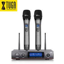 XTUGA Wireless Microphone System E220 UHF 2 Cordless Handheld Whole Metal Mics