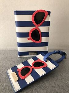 Kate Spade Make a Splash Sunglass Passport Holder & Luggage Tag Set Pre-Owned