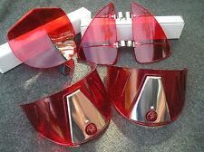 NEW RED VINTAGE STYLE HOOD BUG / VENT DEFLECTORS / HEAD LIGHT VISORS !