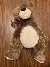 """Brown and White Soft Teddy Bear Plush Stuffed 18"""" Best Made Toys Limited NWOT"""