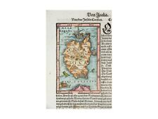 Corsica antique map woodcut French Münster 1578